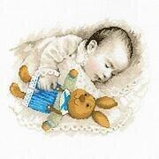 White Bucilla 48872E Born to Dream Bibs 9X14