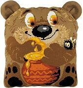 Teddy Bear Cushion - Cross Stitch Kit