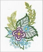 Sketch With Cornflowers - Embroidery Kit
