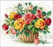 Basket With Roses - Cross Stitch Kit