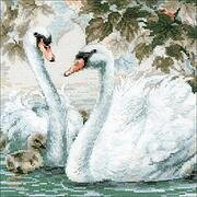 White Swans - Cross Stitch Kit