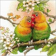 Lovebirds - Valentine's Cross Stitch Kit