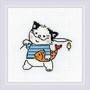 Cat Crew Fisherman - Cross Stitch Kit