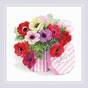 Merci Flowers - Cross Stitch Kit