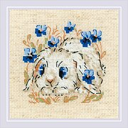 RIOLIS 1469 Counted Cross Stitch Kit 9.75 x 9.75 Zweigart 14ct Hedgehogs In Lingonberries White AIDA 23 Colors