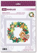 Gingerbread Wreath - Christmas Cross Stitch Kit