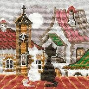 City and Cats Spring - Cross Stitch Kit