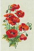 Wild Poppies Flowers - Cross Stitch Kit