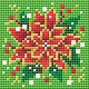 Poinsettia - Diamond Painting Christmas Mosaic Kit