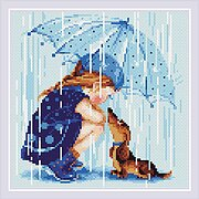 Under My Umbrella - Diamond Painting Mosaic Kit