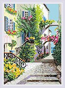 The Italian Courtyard - Diamond Painting Mosaic Kit