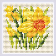 Yellow Narcissus - Diamond Painting Mosaic Kit