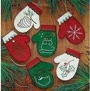 RACHELS OF GREENFIELD K0919 Felt Ornament KIT Christmas Critters