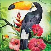 Exotic Toucan - Diamond Mosiac Kit