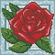 Rose in Lace - Diamond Mosiac Kit