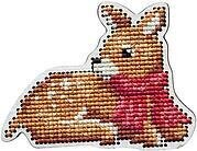 Fawn with Red Scarf - Wooden Cross Stitch Kit