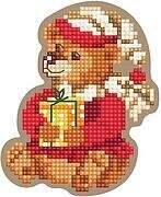 Christmas Bear - Wooden Cross Stitch Kit