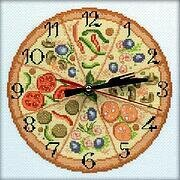 Bon Appetit! (w/ Clock Mechanism) - Cross Stitch Kit