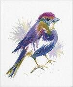 Blue Feather - Cross Stitch Kit