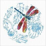 Dance of Dragonflies-Red - Cross Stitch Kit
