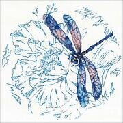 Dance Of Dragonflies (Blue) - Cross Stitch Kit