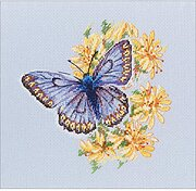 Butterfly On The Flower - Counted Cross Stitch Kit
