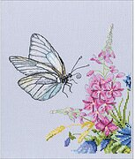 Cabbage Butterfly - Counted Cross Stitch Kit
