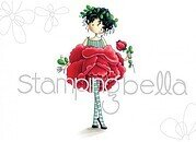 Tiny Townie Garden Girl Rose - Cling Rubber Stamp