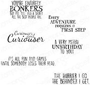 Alice In Wonderland Sentiments - Cling Rubber Stamp