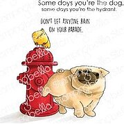 The Pug and The Hydrant - Cling Rubber Stamp