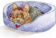 Yorkie - Cling Rubber Stamp