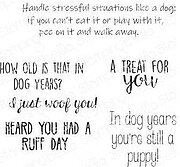 Dog Sentiments - Cling Rubber Stamp