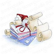 Gnome with A List - Christmas Stamping Bella Cling Stamp