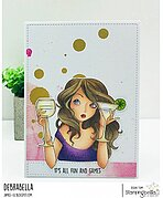 Mochi Party Girl - Cling Stamp