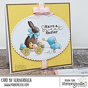 Bundle Girl With A Chocolate Bunny - Easter Cling Stamp