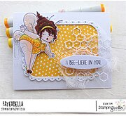 Edna The Bumblebee - Cling Stamp