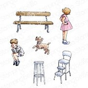 Edgar And Molly's Vintage Bench Set - Cling Stamp