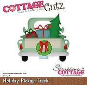 Holiday Pickup Truck - CottageCutz Christmas Craft Die