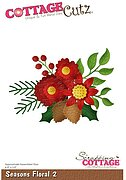 Seasons Floral 2 - Christmas CottageCutz Craft Die