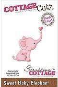 Baby Elephant Die Craft Steel Die Cutting Dies Cottage Cutz CC-MINI-163 New