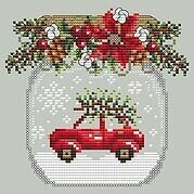 Car Snow Globe - Cross Stitch Pattern