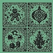 Christmas Silhouette Ornaments - Cross Stitch Pattern