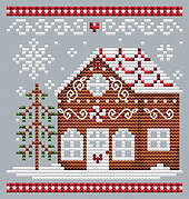 Gingerbread House 3  - Cross Stitch Pattern