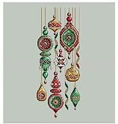 Jeweled Baubles - Cross Stitch Pattern
