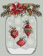 Ornament Snow Globe - Cross Stitch Pattern