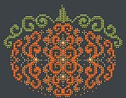Orange Swirl Pumpkin - Cross Stitch Pattern