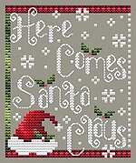 Here Comes Santa Claus - Cross Stitch Pattern
