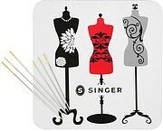 Singer Collectible Magnet and Embroidery Needles Size 3/9