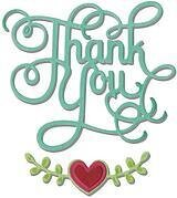 Sizzix Thinlits Dies - Thank You With Hearts Phrase