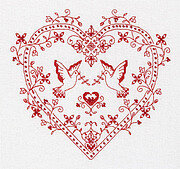 Heart with Doves - Embroidery Kit